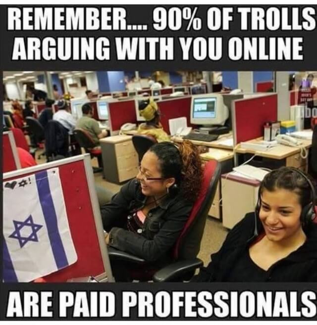 90% of trolls are paid professionals