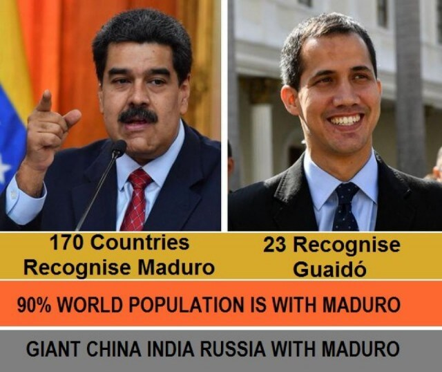 90 percent of World Population is with Maduro