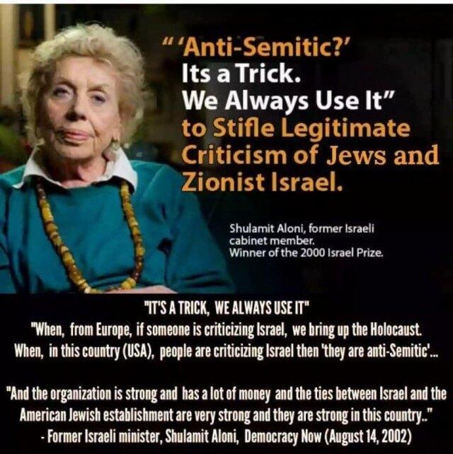 Anti-Semitic it's a trick