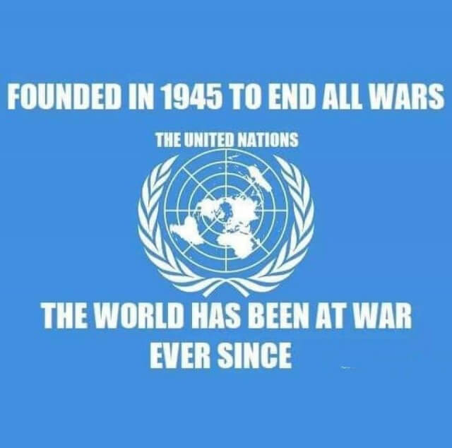 Founded in 1945 to end all wars