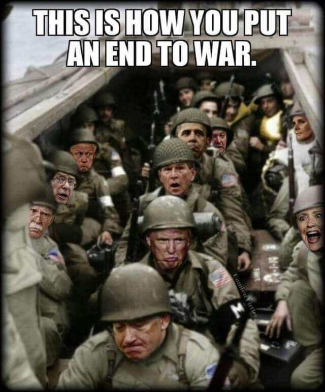 This is how you put an end to war
