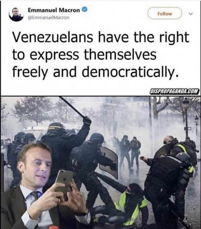 Venezuelans have the rights to express themselves