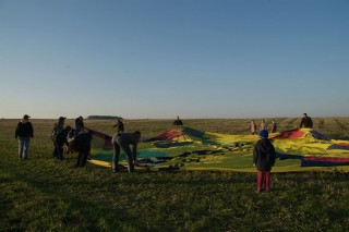 Hot air ballon in mutisov