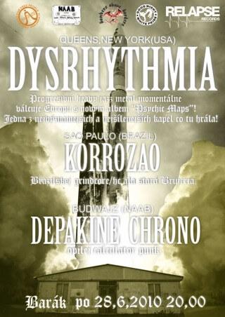 Koncert Dysrhythmia, Korrozo, Depakine Chrono - Slavonice, Barák - 28.06.2010