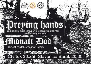 Koncert Reying Hands, Midnatt Dod -Slavonice, Barák - 30.09.2010