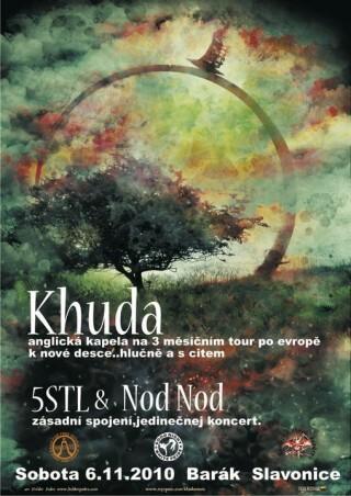 Koncert Khuda, Five Seconds to Leave, Nod Nod - Slavonice, Barák - 06.11.2010