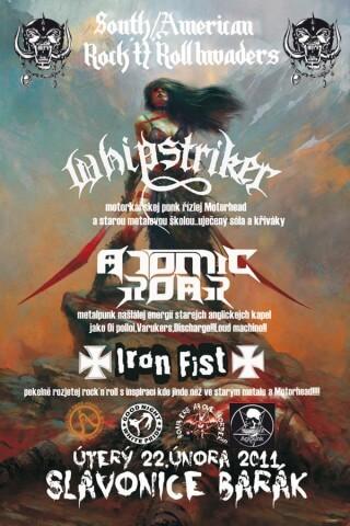 Koncert Whipstriker, Atomic Roar, Iron Fist - Slavonice, Barák - Slavonice