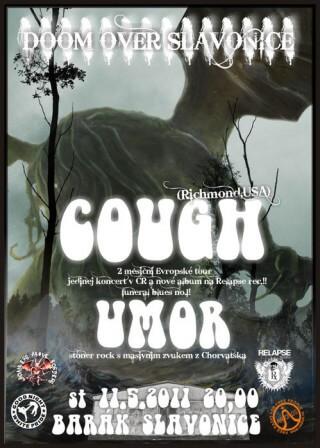 Koncert Doom Over Slavonice, Cough, Umor - Slavonice, Barák - 11.05.2011