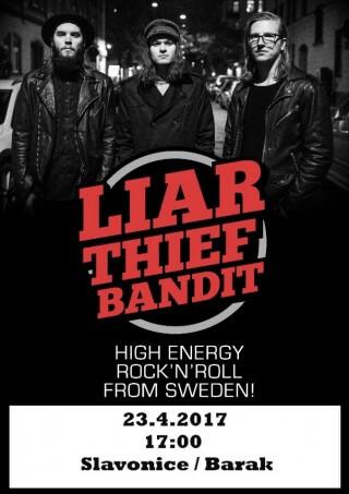 Koncert Liar Thief Bandit - Slavonice, The Barakos - 23.04.2017