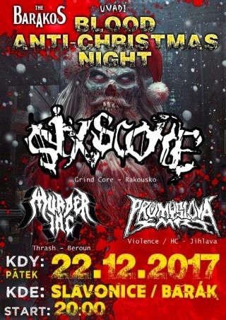 BLOOD ANTICHRISTMAS NIGHT VOL. 2 - Slavonice, The Barakos - 22.12.2017
