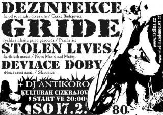 Koncert Dezinfekce, Gride, Stolen Lives, Deviace Doby, dj Antikoro - Cizkrajov u Slavonic, Kulturak - 17.02.2007