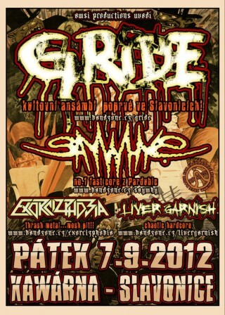 Koncert Gride, Say Why?, Exorcizphobia, Liver Garnish - Slavonice, Kavarna - 07.09.2012