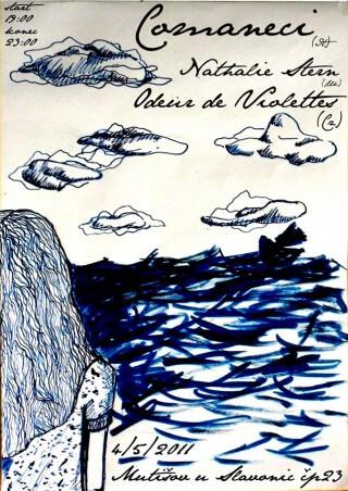 Koncert Comaneci, Nathalie Stern, Odeur de Violettes - Mutisov 23near Slavonice - 04.05.2011