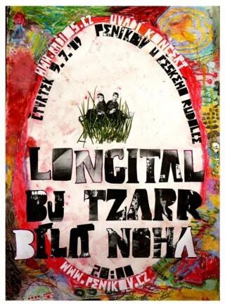 Koncert Bila Noha, Longital, Bj Tzarr,  - Penikov u Ceskeho Rudolce - 09.07.2009