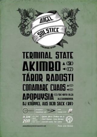 Koncert Angelsolstice Cyberpunk Ritual Music, Terminal State, Akimbo, TÁbor Radosti, Conamare Chaos, Apophysia, Dj knÜppel aus dem Sack - Penikov u Ceskeho Rudolce - 18.06.2011