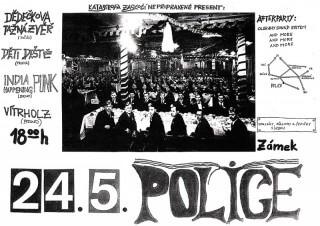 Koncert Dedeckova Taznzzver, Deti Deste, India Punk Happening, Vitrholc - Police u Jemnice, Zámek - 24.05.2006
