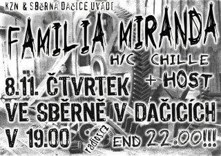 Koncert Familia Miranda - Dacice, Sběrna - 08.11.2007