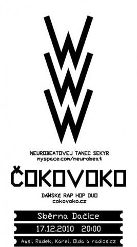 Koncert WWW, Čoko Voko - Dacice, Sběrna - 17.12.2010