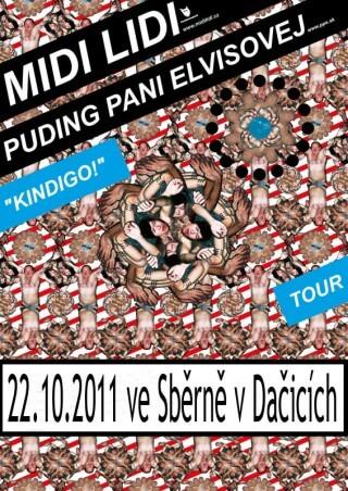 Koncert Midi Lidi, Puding Pani Elvisovej - Dacice, Sběrna - 22.10.2011