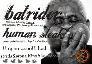 Koncert Batrider, Human Steak - Slavonice, Stare Kino - Slavonice