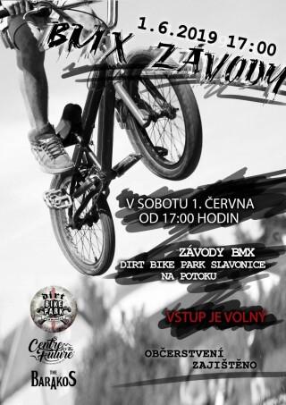 BMX bike free style závody na Dirt Bike Parku ve Slavonicích