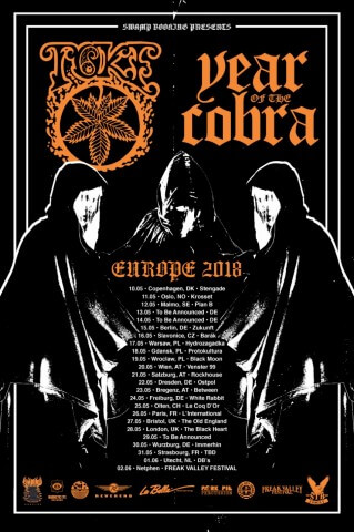 Concert TOKE and YEAR OF THE COBRA Barak Slavonice 16.05.2018