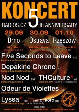 KONCERT Radios.cz 5th Anniversary