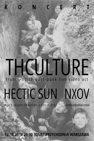 Concert THCulture + Hectic Sun - Warsaw - Squat Przychodnia - 12.10.2019