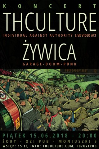 Concert THCulture and Żywica - Żory OZI PUB - 15.06.2018