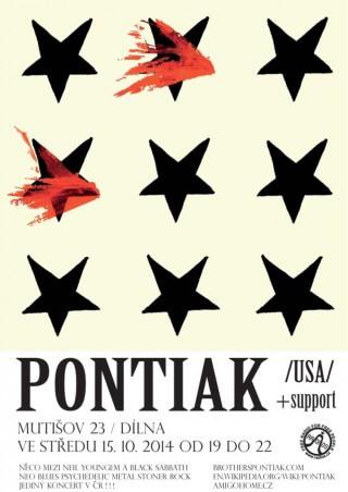KONCERT v Mutišově 15.10.2014 PONTIAK (usa)
