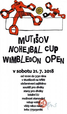 Mutišov Nohejbal Open v sobotu 21.07.2018