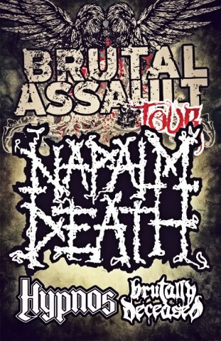 NAPALM DEATH ve Slavonicích 23. března 2012 v Kulturáku!!!