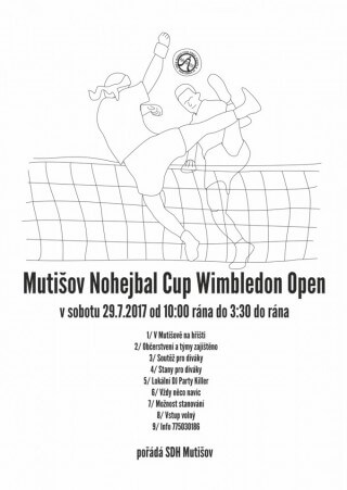 Pozvánka na Mutišov Nohejbal Cup Wimbledon Open 2017