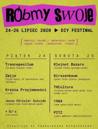 Róbmy Swoje Fest 2020 - Devil Beach - 24-25.07.2020
