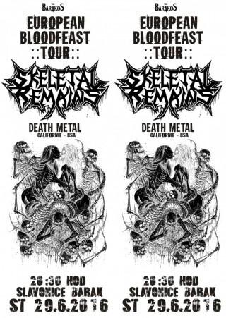 SKELETAL REMAINS - Death metal z USA na Baraku ve Slavo